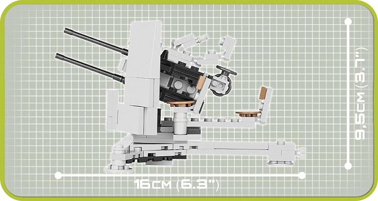Đồ Chơi Lắp Ráp Súng Phòng Không 2CM COBI - 2186