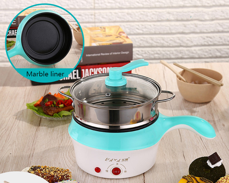 Electric Cooker Electric NonStick Pan Practical Ceramic 2 Layers Electric Lunch Box Frying Pan