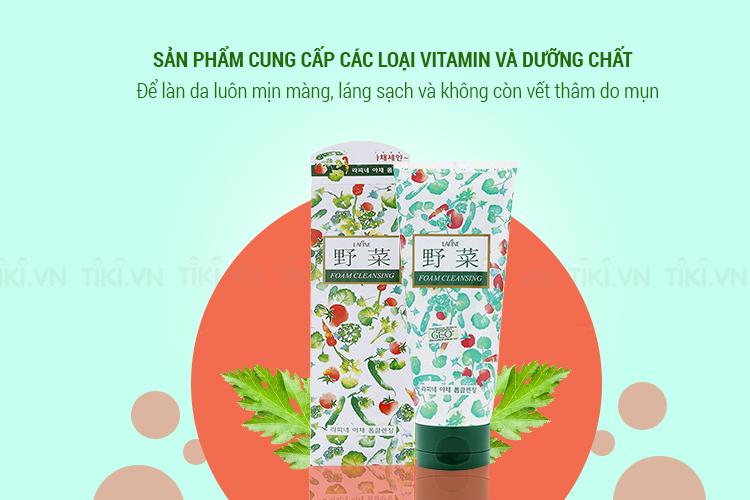 Sữa Rửa Mặt Hoa Quả Trị Mụn Dưỡng Trắng Vegetable Foam Cleansing Geo (200ml)