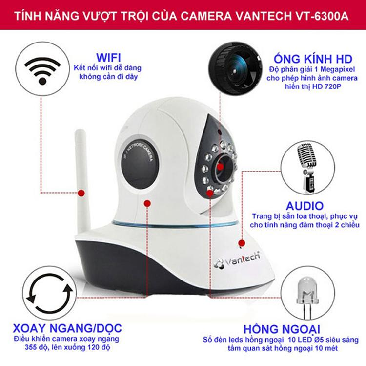 Camera IP Vantech VT-6300A 1.0 Megapixel - Hàng nhập khẩu