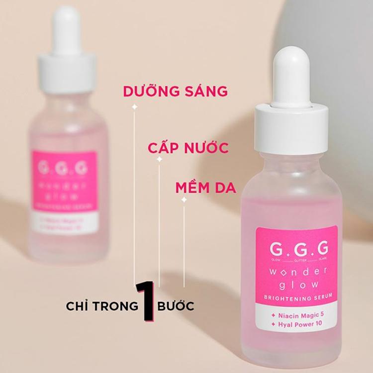 Tinh chất dưỡng sáng G.G.G Wonder Glow Brightening Serum 30ml