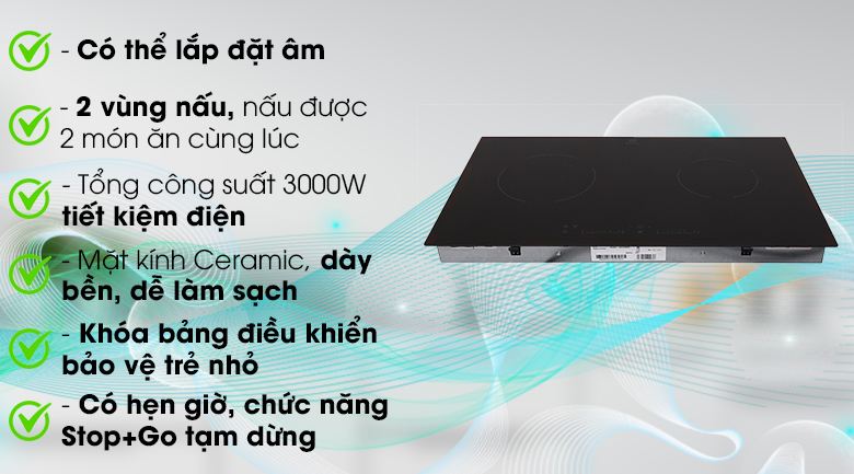 Bếp điện âm Electrolux EHC7240BA - Hàng chính hãng