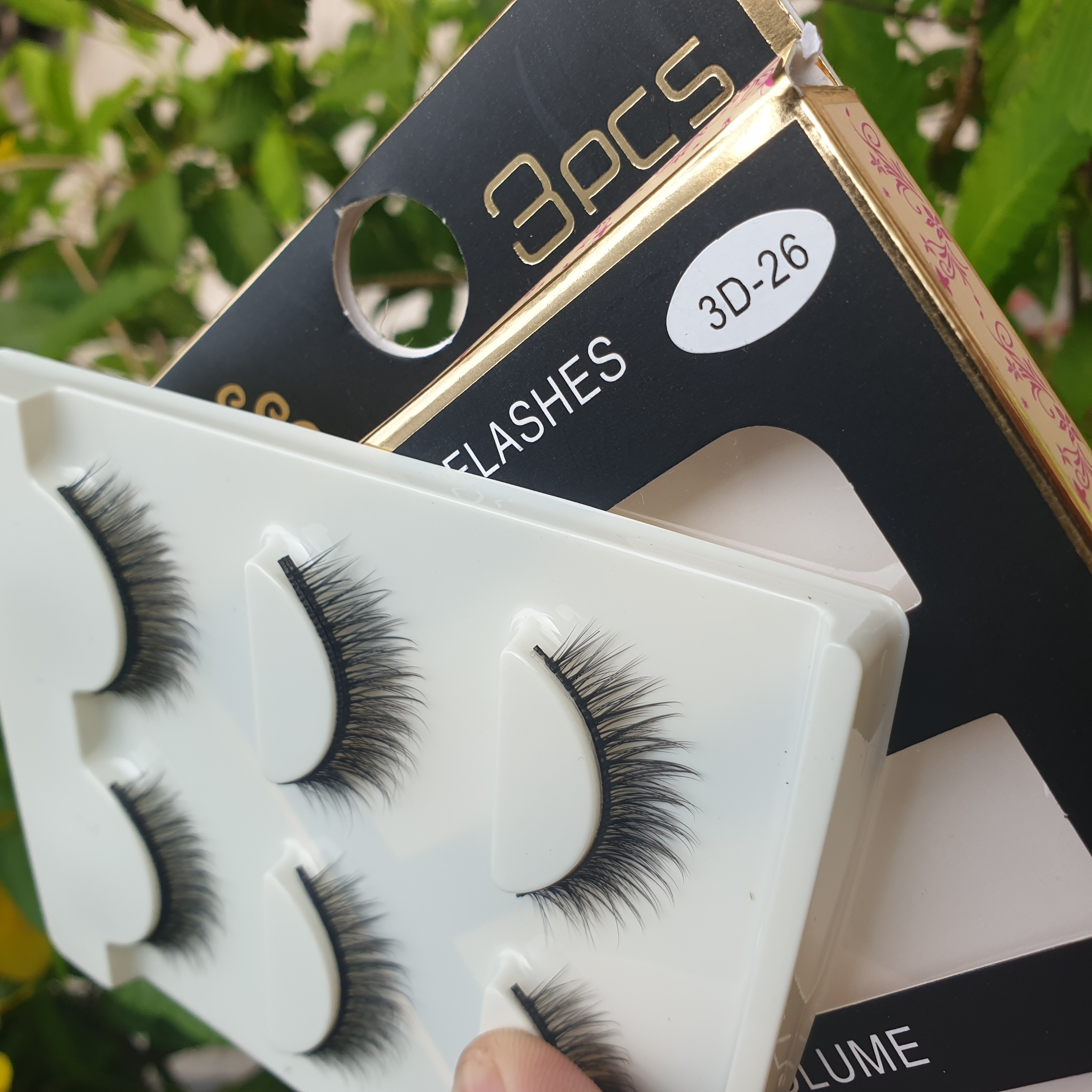 Lông mi giả lông chồn 3 Fashion Eyelashes 3 Faux-Cils 3D 1 bộ 3 cặp 105