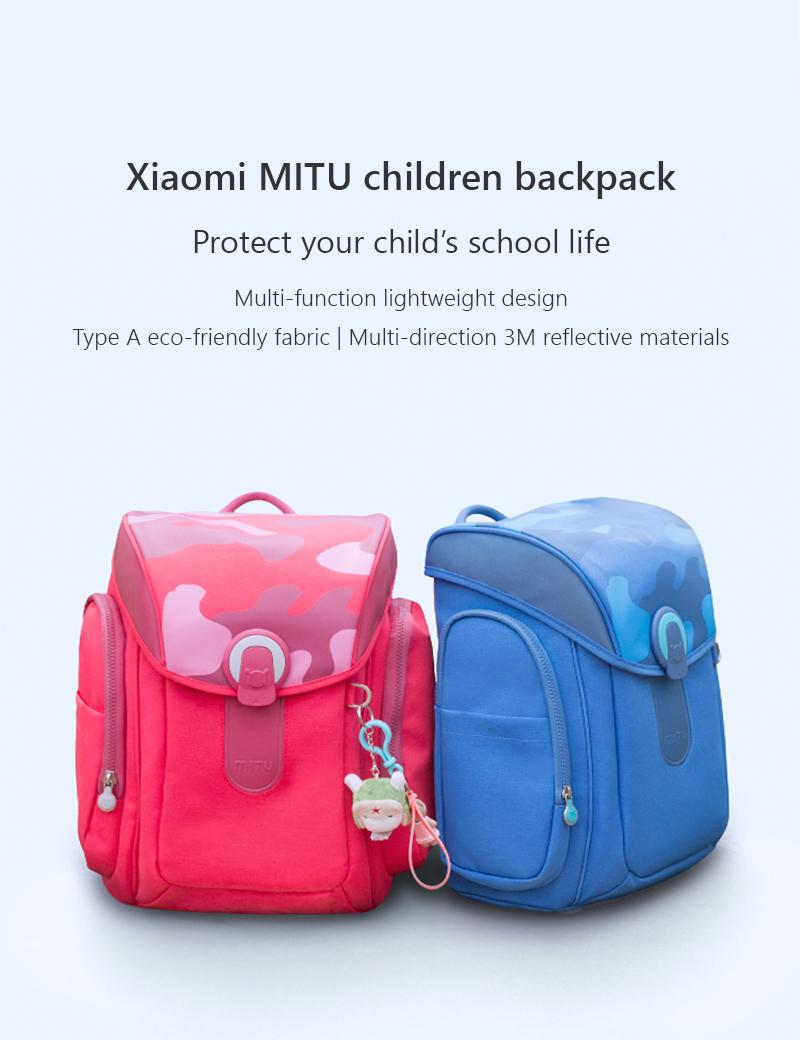 Ba Lô Trẻ Em Xiaomi MI - Hồng/ Xanh