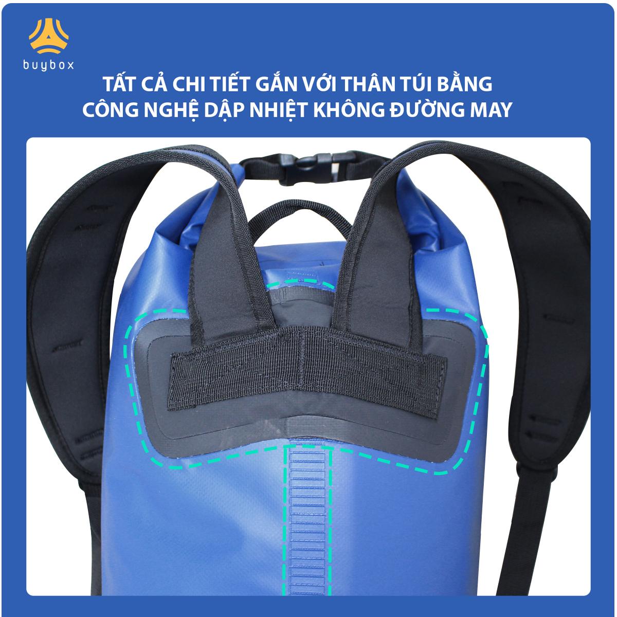 Hình ảnh cận cảnh Balo chống nước đi phượt chất liệu 500D PVC sản xuất tại Việt Nam - 10L, 20L, 30L, 40L, 55L - buybox - BBPK161