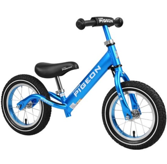 Flying Pigeon (PIGEON) Children's Balance Car Bicycle 1-3-6 Years Sliding Cars Children Men and Women Baby Kids Sliding Two Wheels No Footing Aluminum Bicycle Spoke Wheel Ice Blue