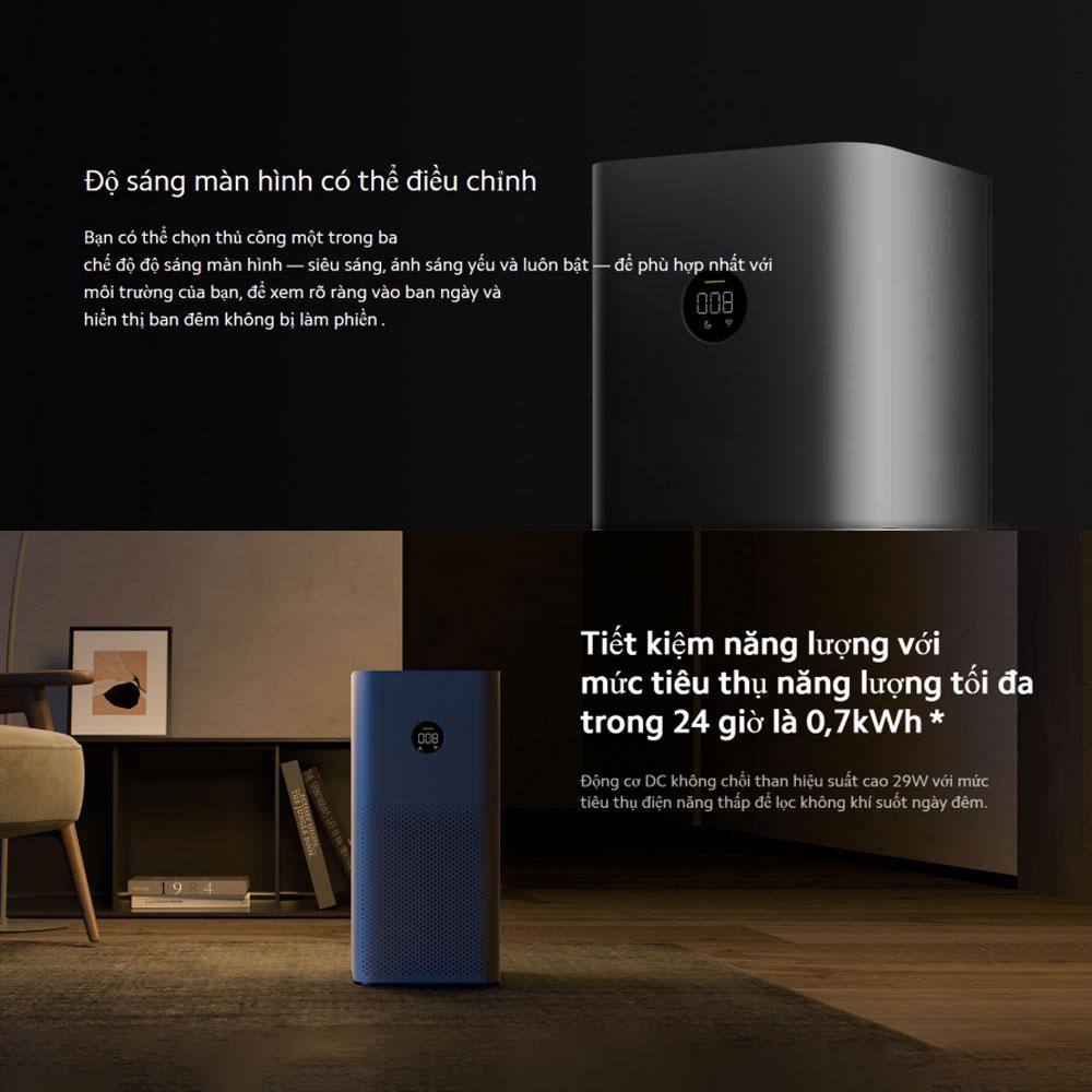 Máy lọc không khí Xiaomi Air Purifier 3C diện tích sử dụng từ 28-48 m2 -  Hàng Chính Hãng - Máy lọc không khí | DienMayThanh.com