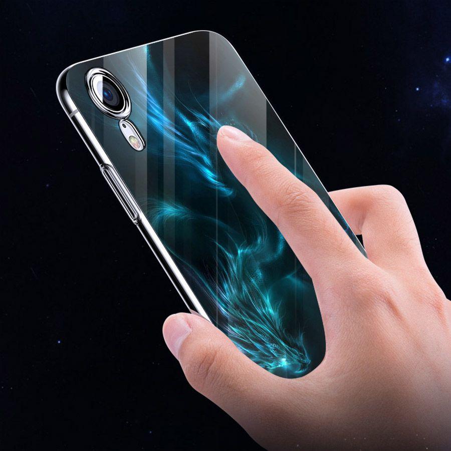 Ốp điện thoại kính cường lực cho máy iPhone XS MAX - long hổ MS LONG007