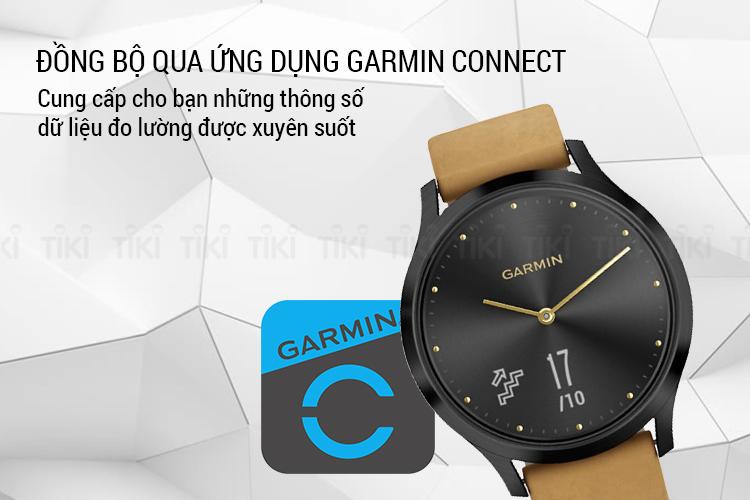 Đồng Hồ Thông Minh Garmin Vivomove  HR Premium - Hàng Chính Hãng