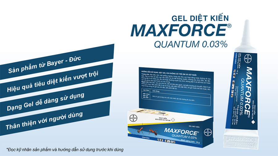 Gel Diệt Kiến Bayer Maxforce Quantum 0.03% (12g)