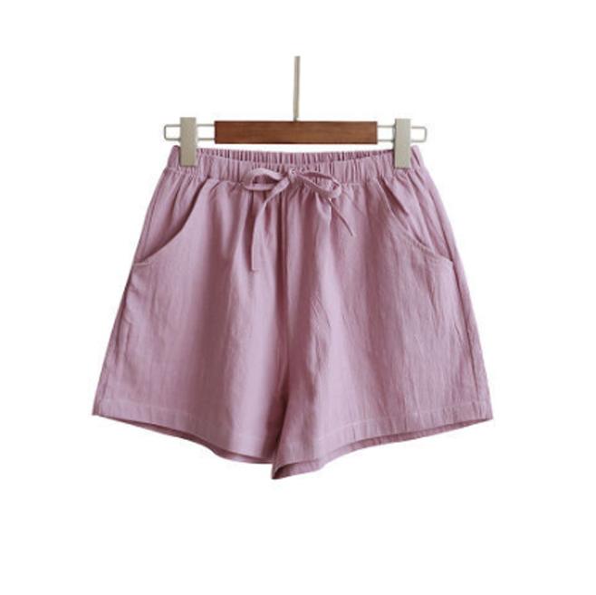 Quần đùi short nữ vải đũi thời trang mát mẻ mùa hè QĐ06 7