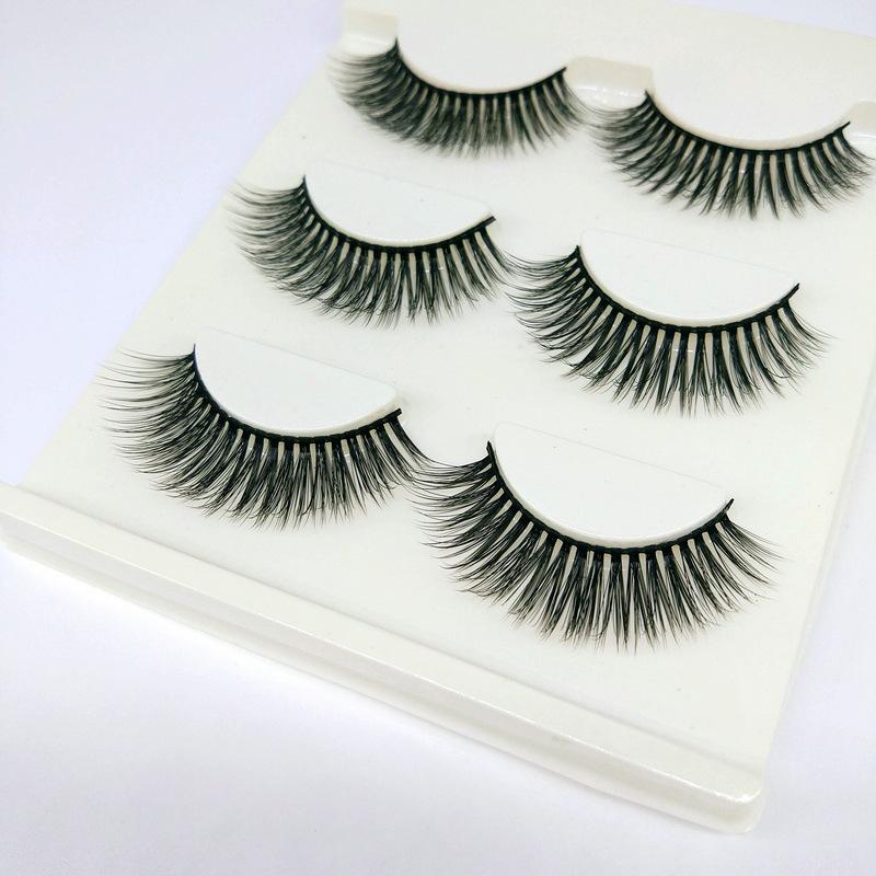 Lông mi giả lông chồn 3 Fashion Eyelashes 3 Faux-Cils 3D 1 bộ 3 cặp 75