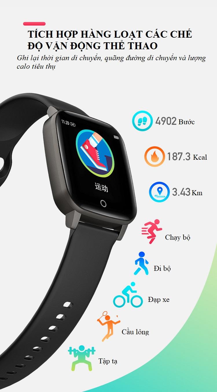 Đồng hồ theo dõi sức khỏe đa năng T_1_Q - Đồng hồ thông minh 10