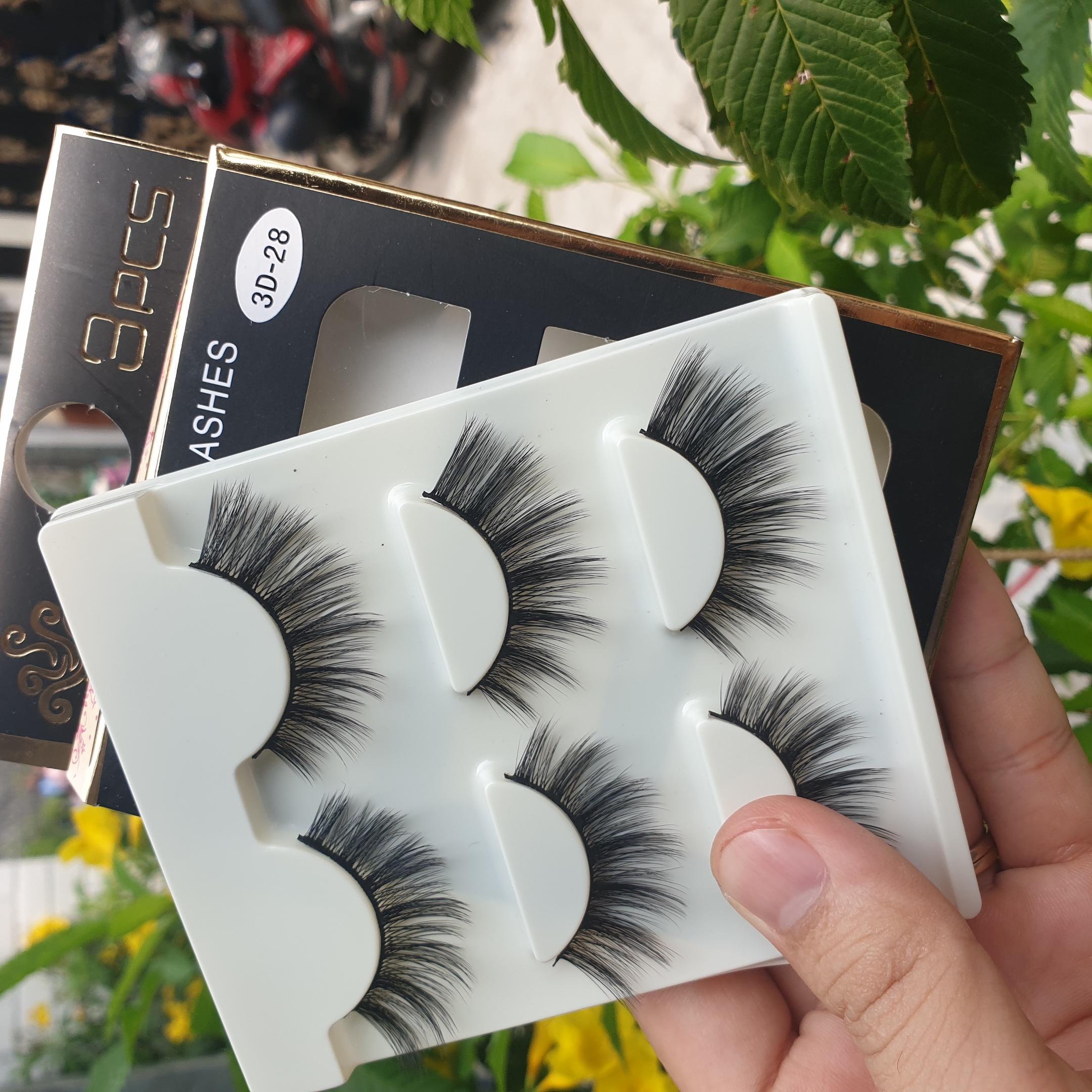 Lông mi giả lông chồn 3 Fashion Eyelashes 3 Faux-Cils 3D 1 bộ 3 cặp 112