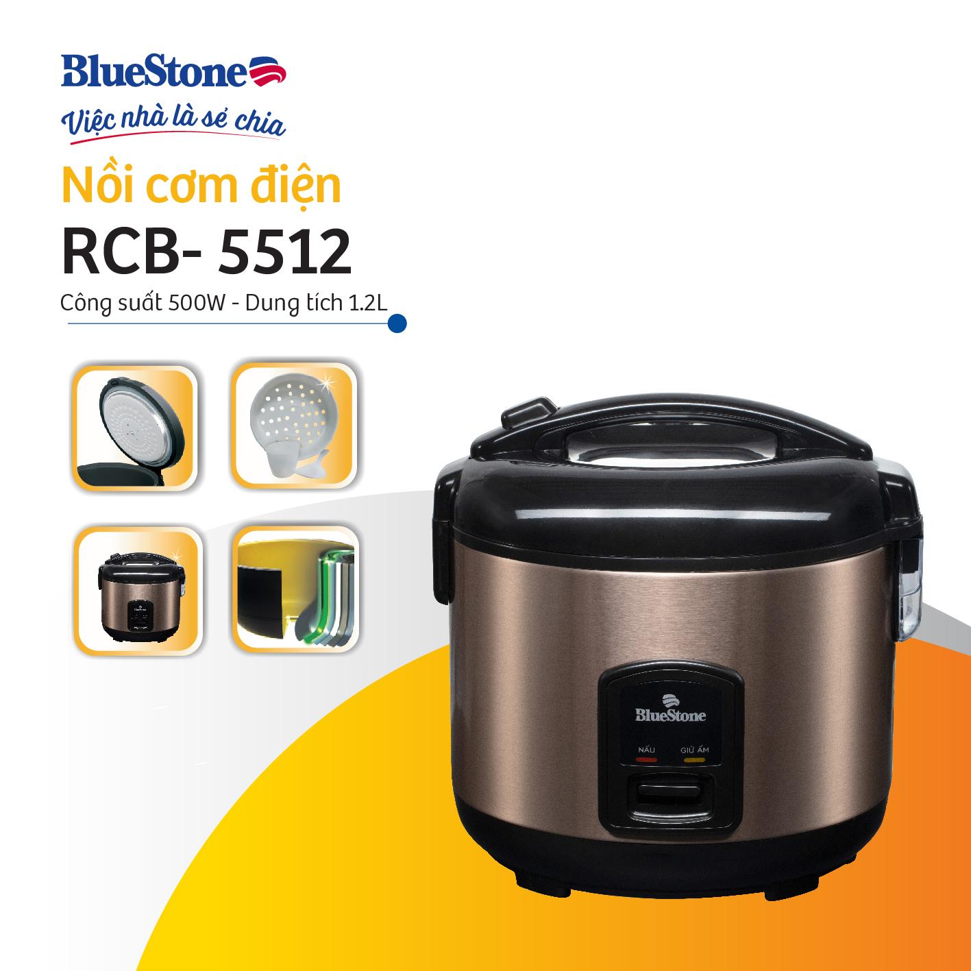 Nồi cơm điện Bluestone RCB-5512 - Hàng chính hãng