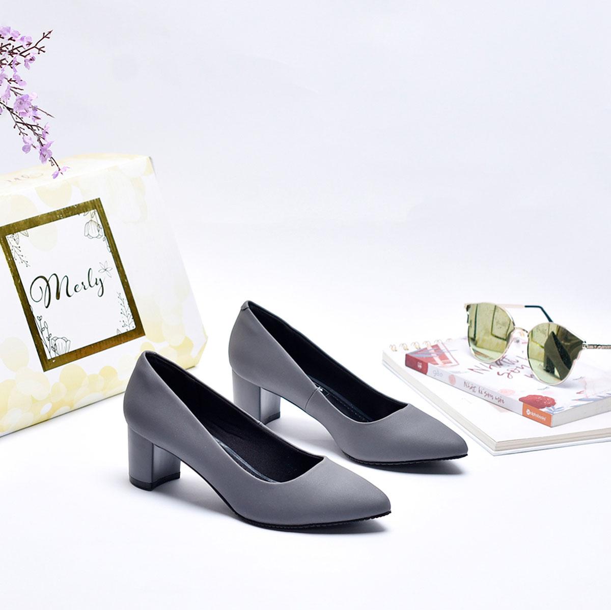 Giày gót thấp mũi nhọn Merly 1069 1