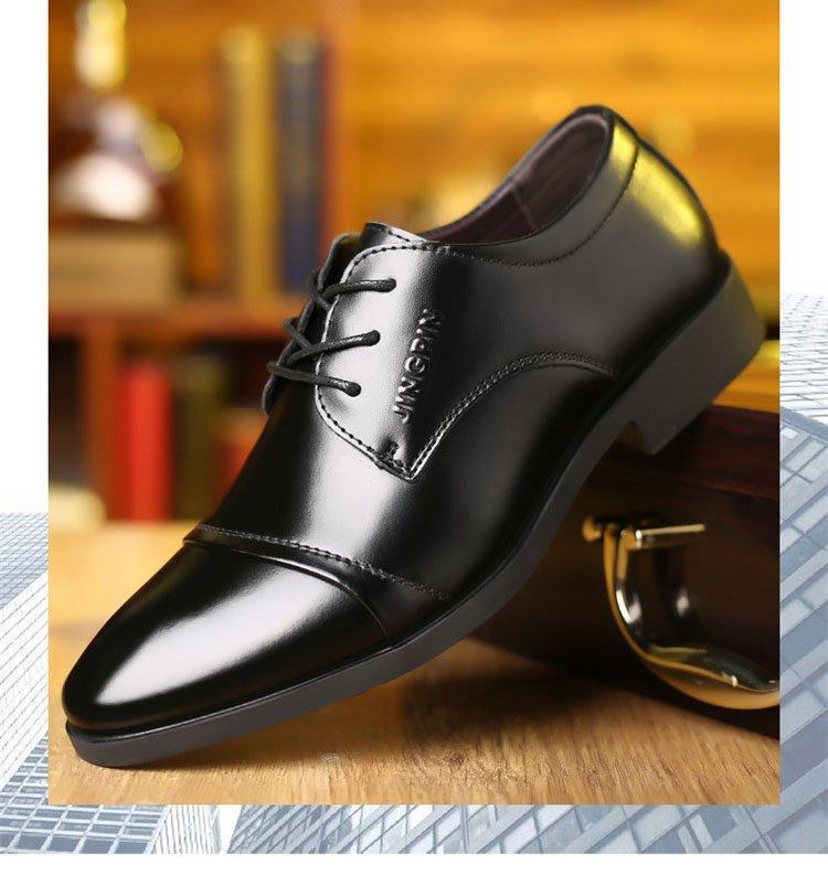 Giày da thật nam giày da nam cao cấp giày nam công sở sang trọng, phong cách thời trang giày da cao cấp giày nam mẫu mới mã 8867-A 9