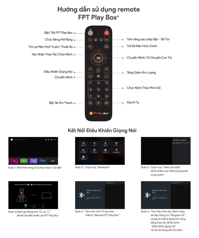 Remote FPT Play Box Điều khiển Fpt Play Box bằng giọng nói cho Fpt Play Box  2018 2019 2020 Remote voice cho TV Box Fpt - Chính Hãng   Android Tivi Box