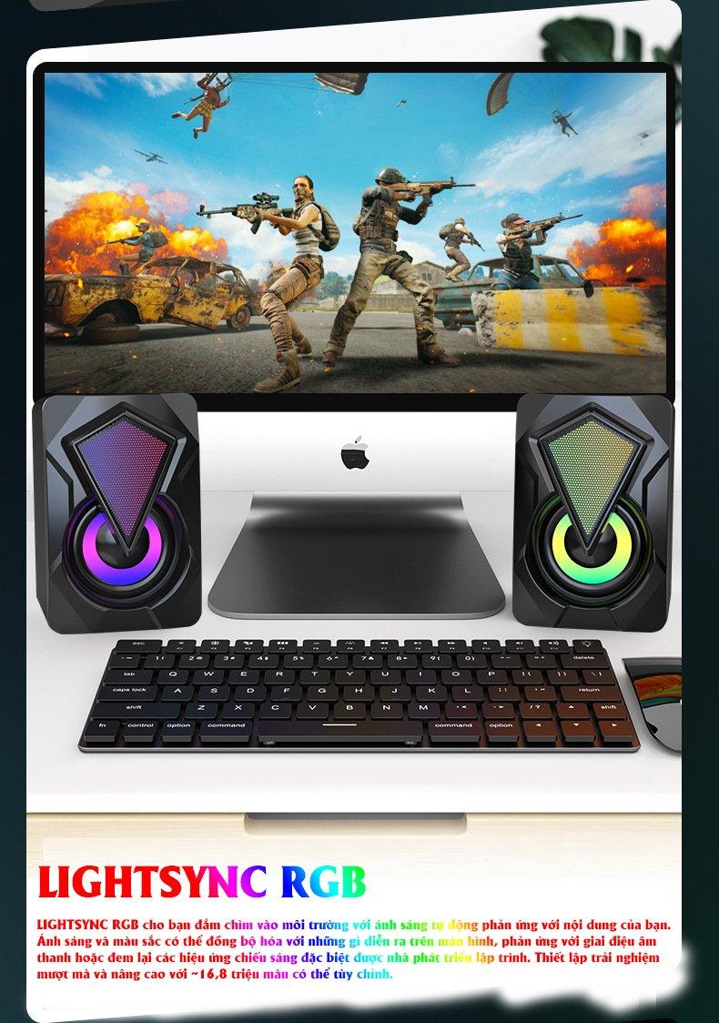 Loa OOE SUPER BASS 2021 Âm Thanh Vòm 3D Phiên Bản Đặc Biệt, Dùng Cho Máy Tính, Laptop, PC, Tivi - Hàng Chính Hãng 2