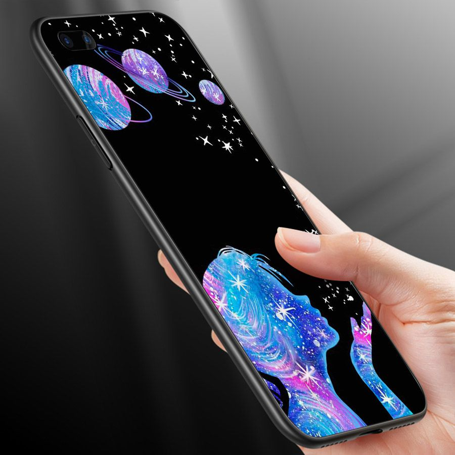 Ốp lưng cứng viền dẻo dành cho điện thoại Oppo A5/A3s - R11 - Phía sau một cô gái MS PS1CG009