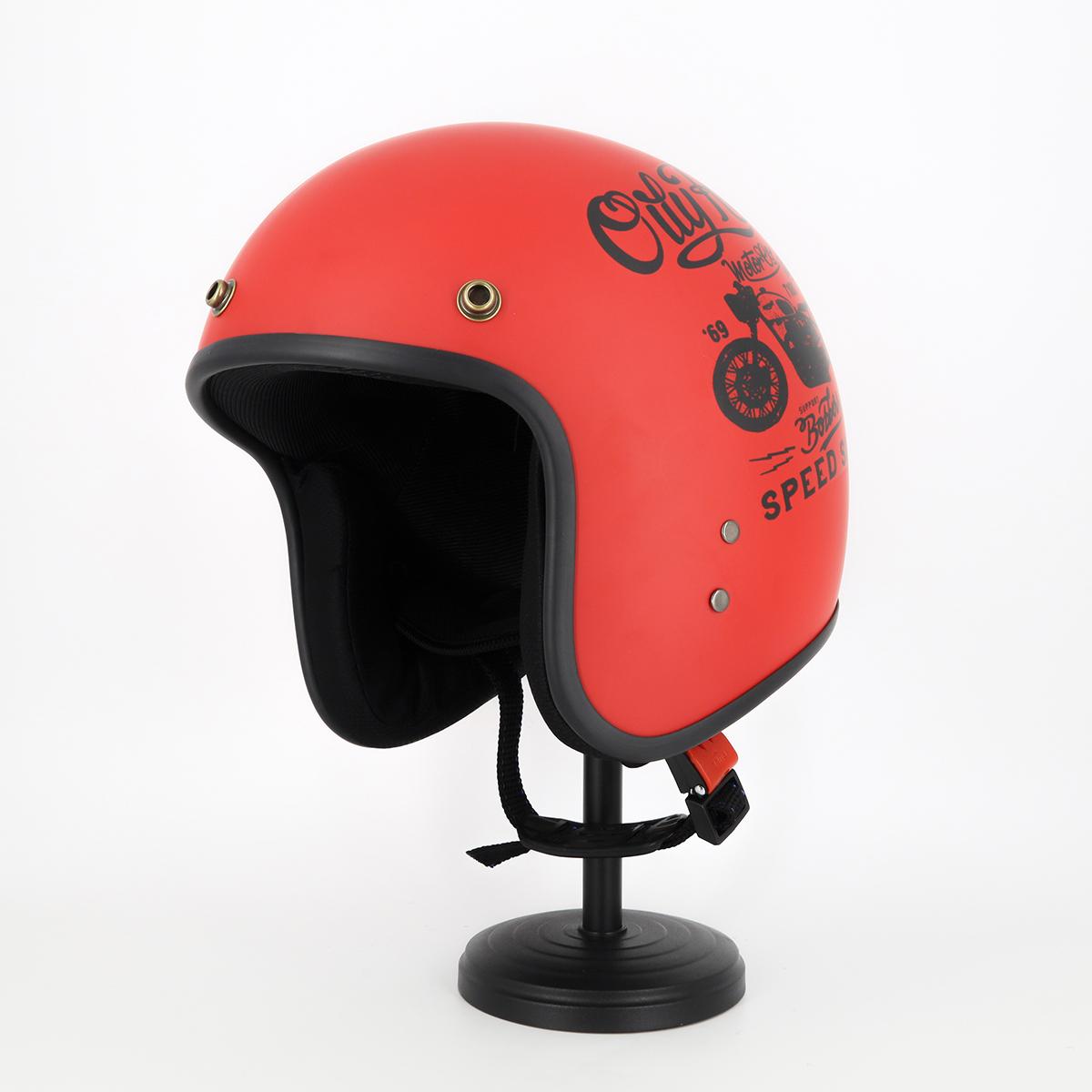 Mũ Bảo Hiểm 3 4 Đầu Tem Xe Siêu Chất - Mũ Bảo Hiểm Chuyên Phượt Cao Cấp 2
