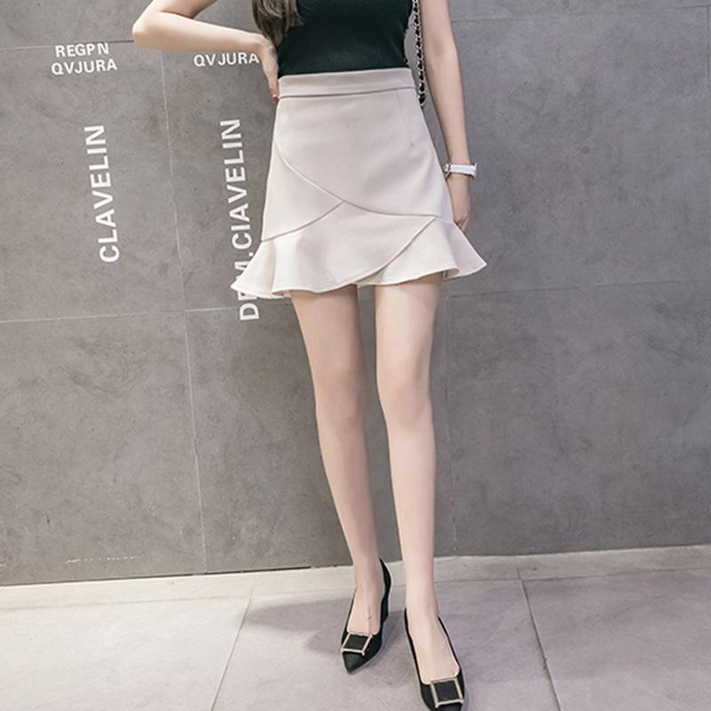 Chân váy công sở đẹp Louro L700, có lớp lót quần bên trong, dáng ngắn chữ A vẩy đuôi cá nhẹ, dễ kết hợp trang phục, đi làm đi chơi,tặng quần mặc trong váy cotton cao cấp 2
