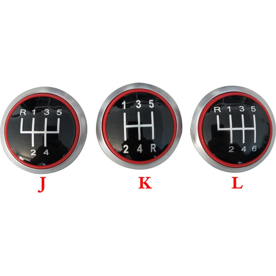 For Audi A4 S4 B8 8K A5 8T Q5 8R S Line 07-15 Shift Knobs with PU Leather Boot RED LINE Gear Shift Knob With Red Ring