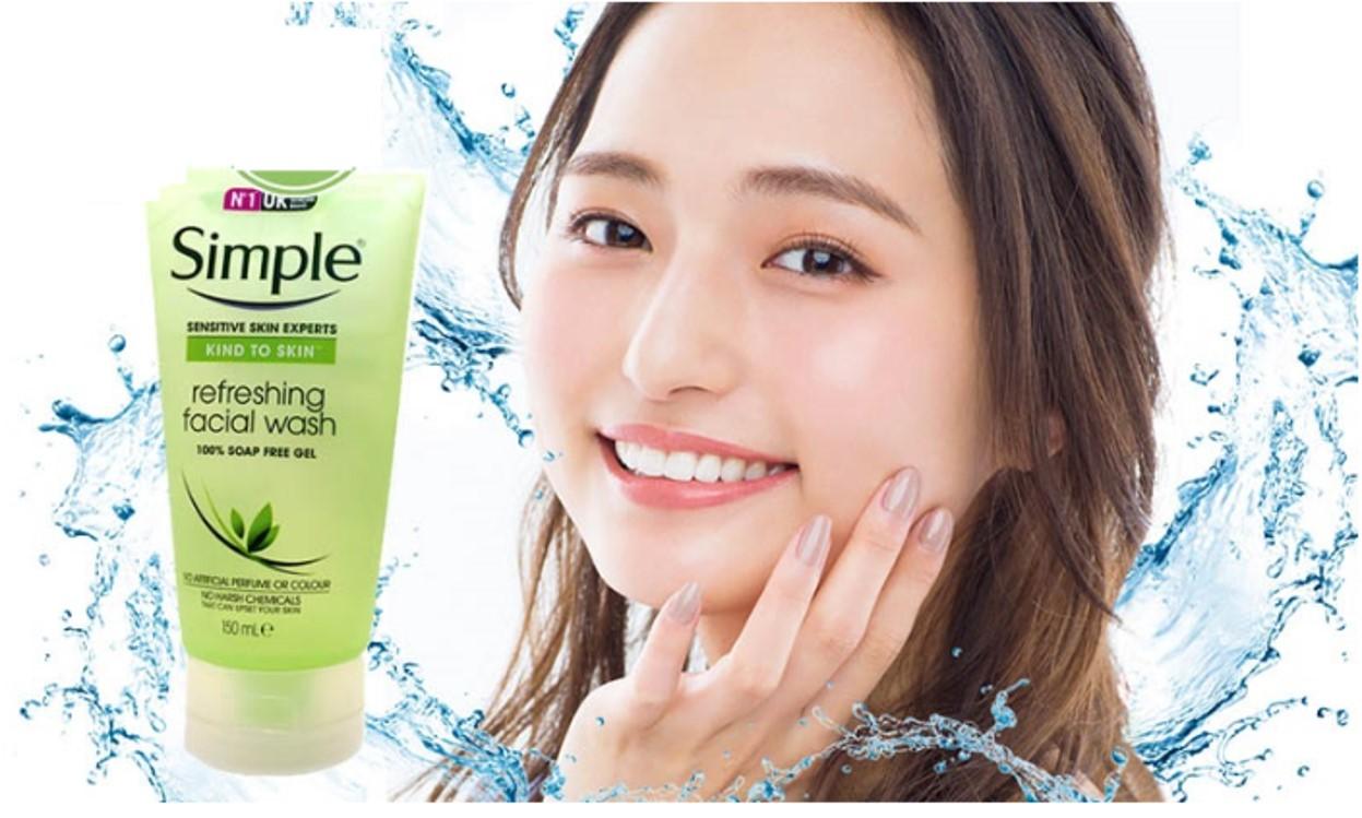 Gel Rửa Mặt Simple Refreshing Facial Wash 50ml