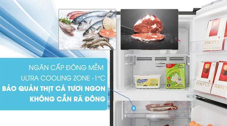 Tủ Lạnh Inverter Toshiba GR-B31VU-UKG (253L) - Hàng Chính Hãng