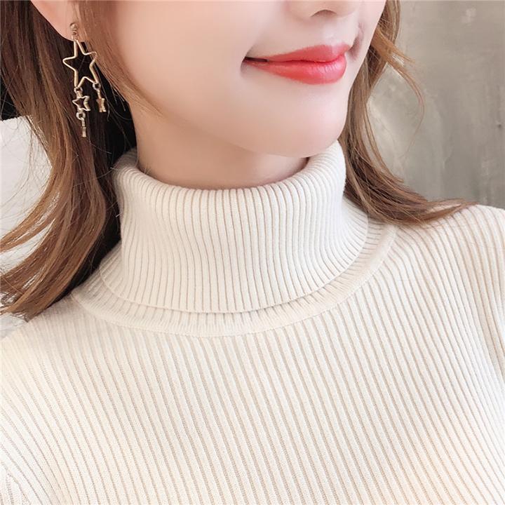 Áo Len Basic Kín Cổ Nữ Chất Liệu Cao Cấp Phong Cách Thời Trang Hàn Quốc Trẻ Trung Sành Điệu-Kem 4