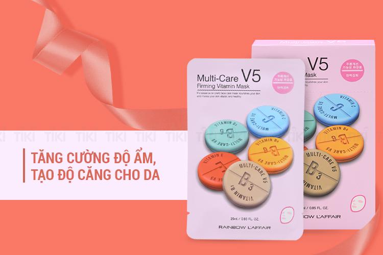 Hộp 10 Miếng Mặt Nạ Dưỡng Da Rainbow L'Affair Multi-Care V5 Firming Vitamin Mask