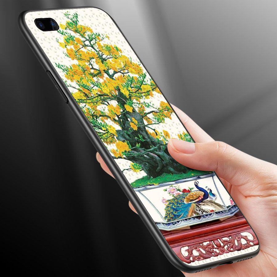 Ốp điện thoại Oppo A5/A3s - R11 - Tranh Mai Đào MS MDAO024