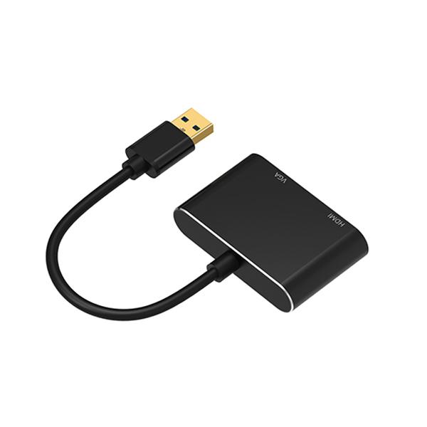 Cáp chuyển đổi USB 3.0 to HDMI + VGA Onten OTN-5201B cao cấp