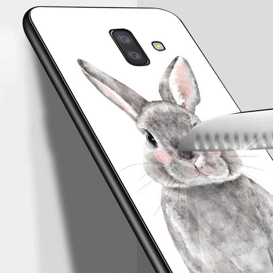 Ốp kính cường lực cho điện thoại Samsung Galaxy J6 - dễ thương muốn xỉu MS CUTE056