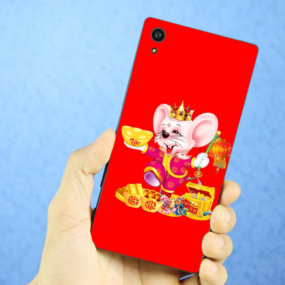 Ốp lưng điện thoại Sony Xperia X - Chuột chúc tết mã 12 MS CCTM12