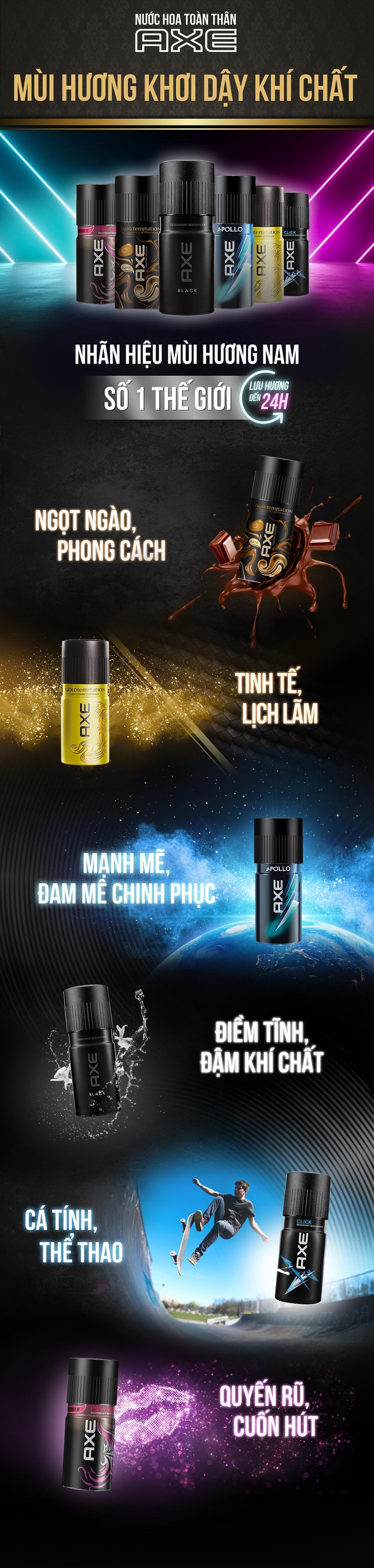 Xịt Ngăn Mùi Toàn Thân AXE Click (150ml)