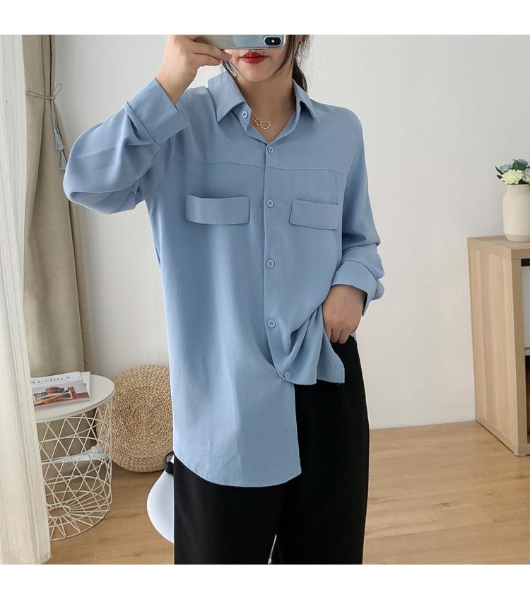 Sơ mi nữ form rộng tay dài ArcticHunter, phong cách trẻ, thương hiệu chính hãng 20