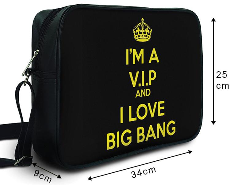 Túi Đeo Chéo Hộp Unisex I'm A V.I.P And I Love Big Bang - TCKK069