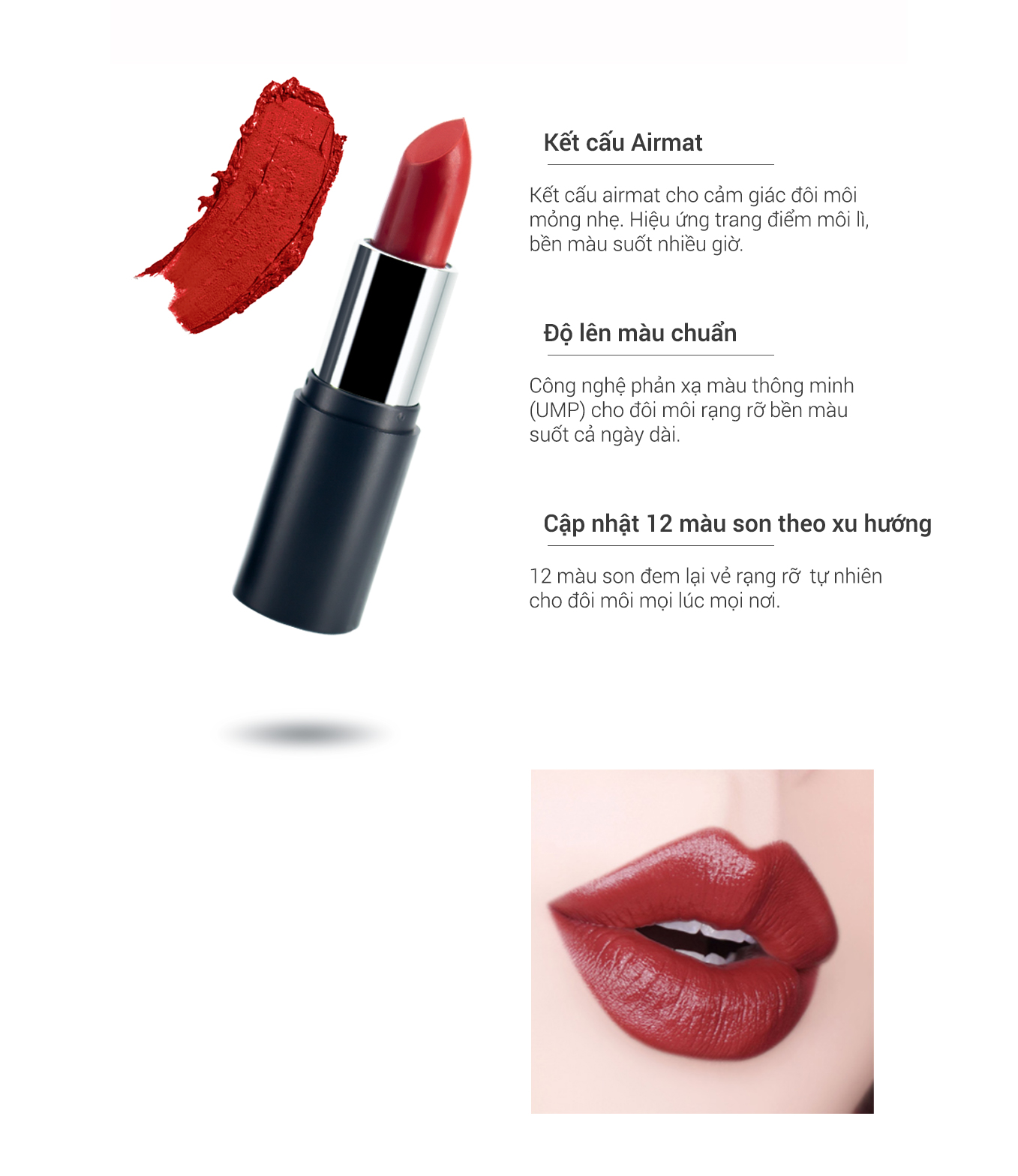 Son màu lì nhẹ môi coral love Ekel Professional Ample Essence Lip 110 2