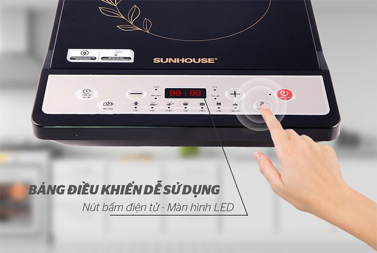 Bếp Điện Từ Cơ Sunhouse SHD6147 (310 x 165 x 395 mm) - Hàng Chính Hãng