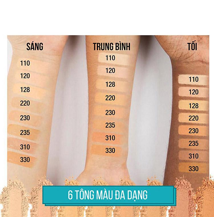 Phấn Nền Maybelline Fit Me Skin-Fit Powder Foundation 9gr Siêu Mịn Màng PM714 13