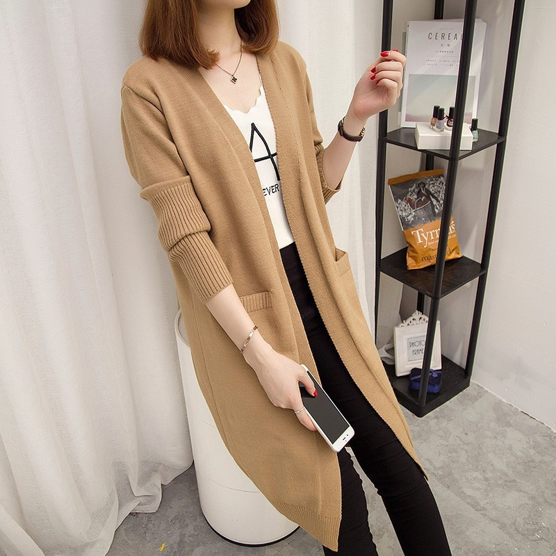 Áo len nữ cardigan dáng dài phong cách trẻ trung 8