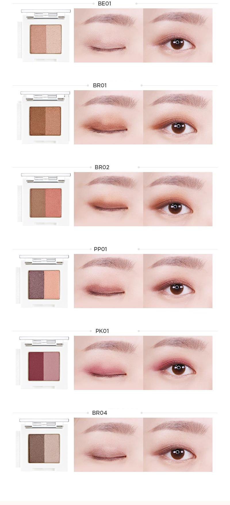 Màu Mắt Trang Điểm The Face Shop Mono Cube Eyeshadow (Dual)