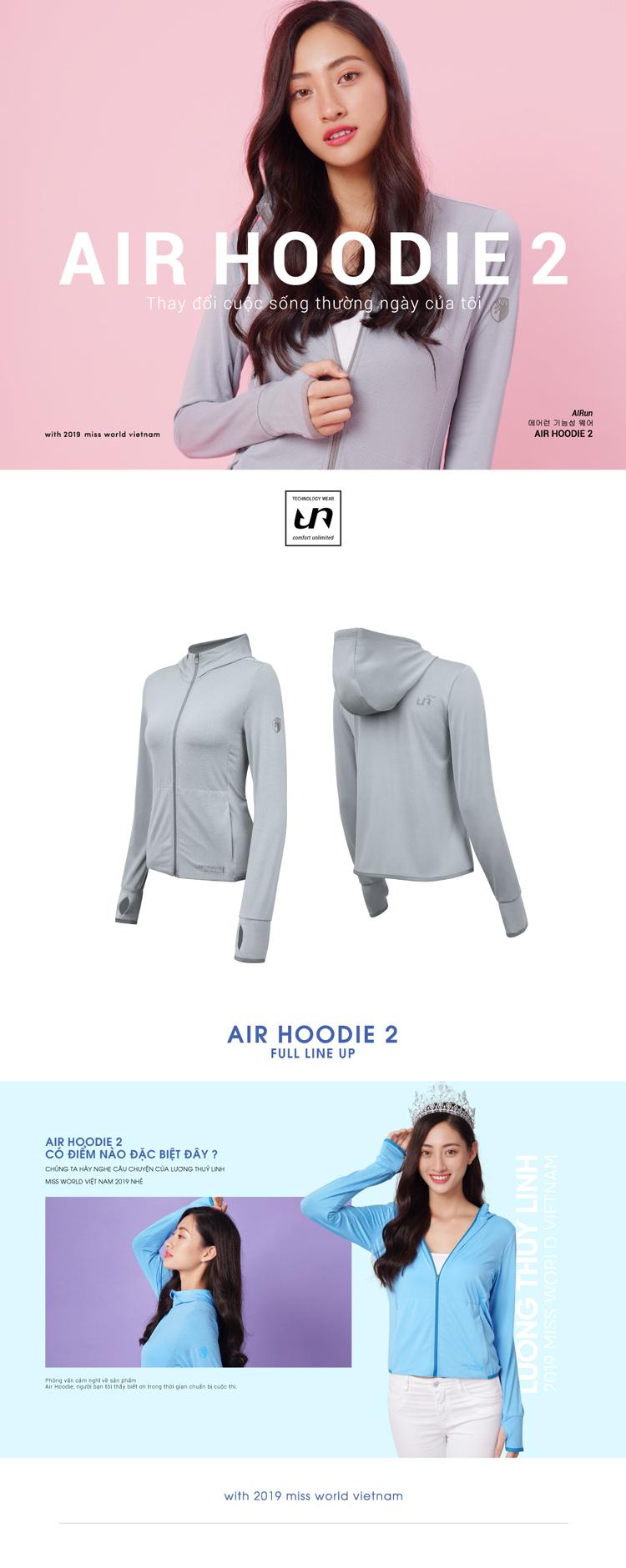 Áo khoác nữ Air Hoodie LO19707101-G 1
