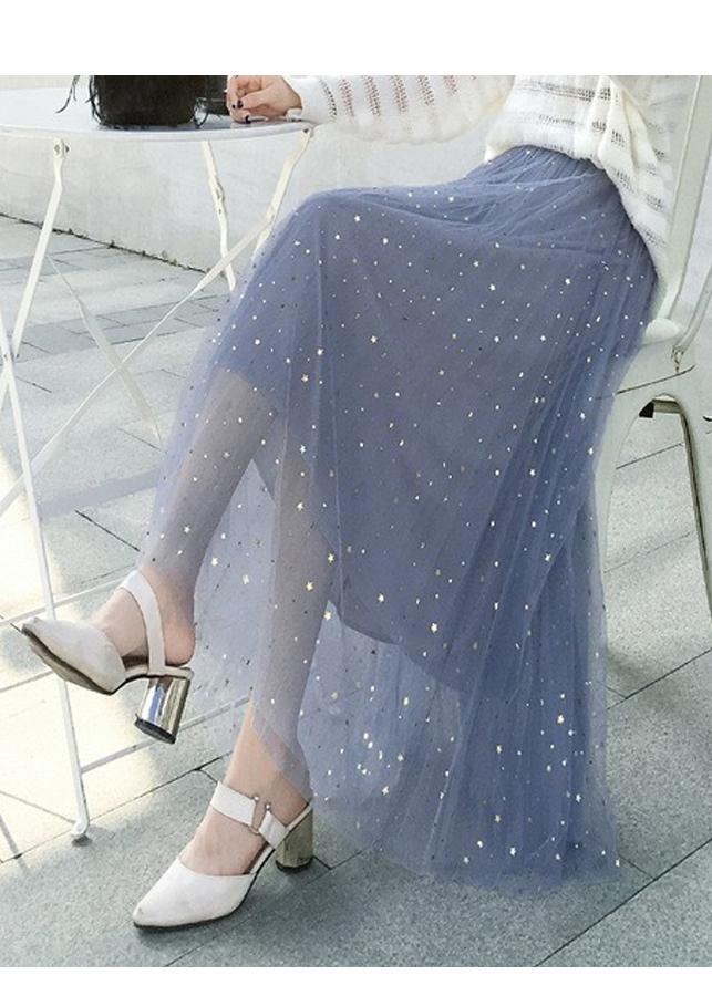 Chân váy ren Tulle - Tutu xòe tròn đính trăng sao lấp lánh giá siêu tốt VAY21 Free size 5