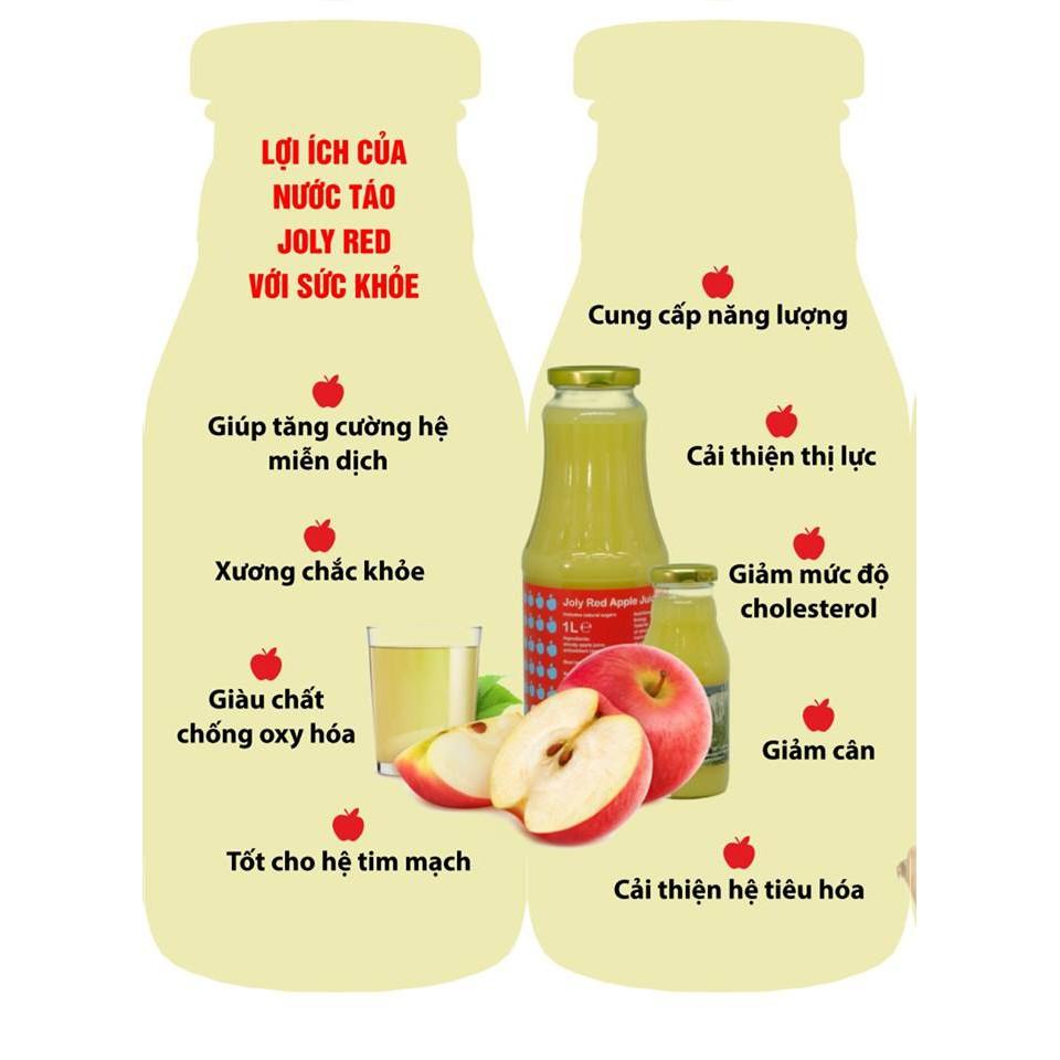 Nước ép táo JOLY RED Hà Lan [chai 1 lít] (Ảnh 2)