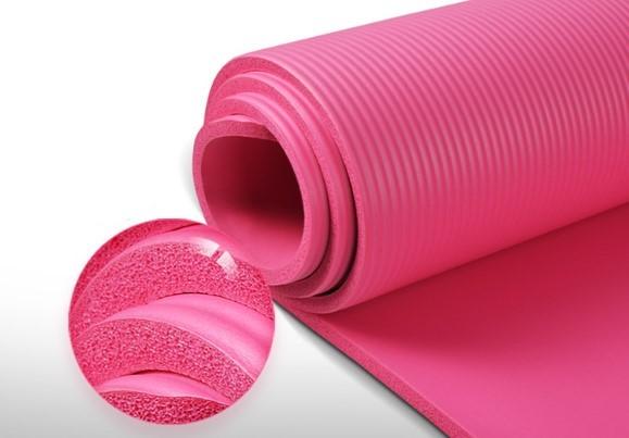 Ortho Yoga mat upgrade high density 185*80cm widened long fitness mat (gift strap + net bag) thick 10mm non-slip sports mat