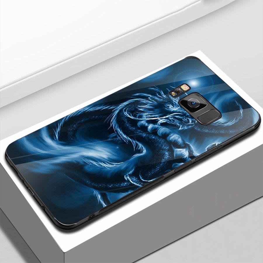 Ốp kính cường lực cho điện thoại Samsung Galaxy S8 Plus - long hổ MS LONG009
