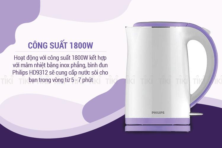 Bình Đun Siêu Tốc Philips HD9312 (1.7L)