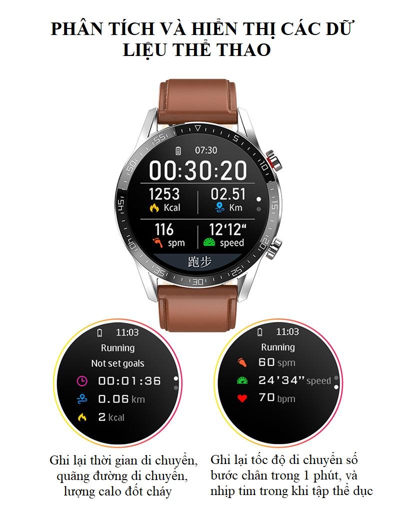 Đồng hồ theo dõi Sức khỏe cao cấp 1.3 -Theo dõi và nhắc nhở vận động 6